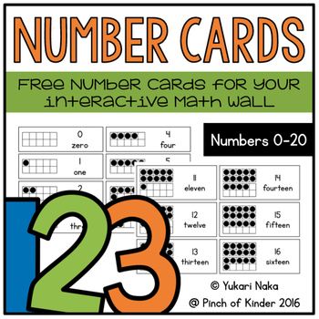 Number Cards: Free Number Cards for your Interactive Math Wall