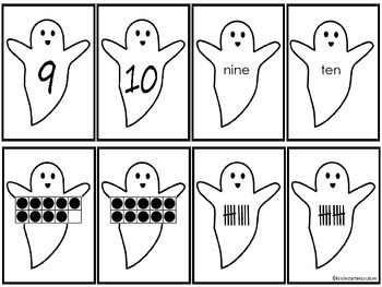 Number Cards -Ghosts