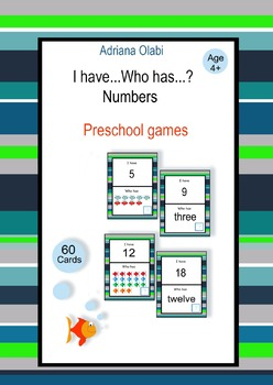 Number Cards. I have.... Who has...?