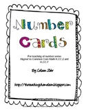 Number Cards K.CC.2 and K.CC.7