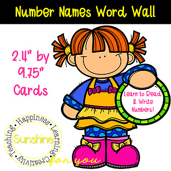 Number Cards. Make a Word Wall For Numbers! Supports Reading/Writings Numbers