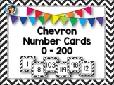 Number Cards / Number Line {0 - 200} Chevron