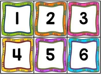 Number Cards - Number Line