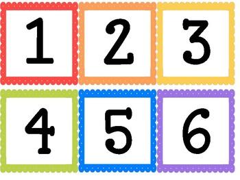 Number Cards/Number Line