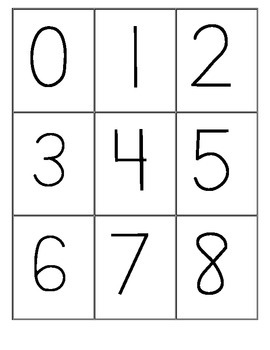 Number Cards ~ Numerals, Ten Frame, Dice, Tally Marks and Number Word Math Game