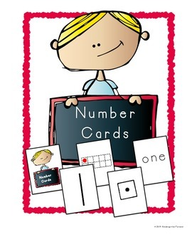 Number Cards ~ Numerals, Ten Frame, Dice, Tally Marks and