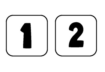 Number Cards Numeral 1-20
