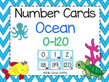 Number Cards ~ Ocean ~  0-120