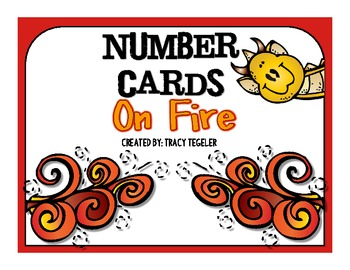 Number Cards On Fire