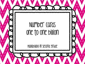 Number Cards One through One Billion