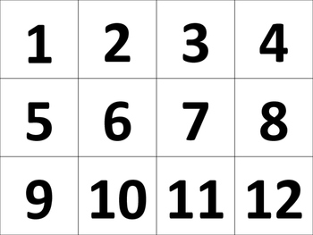 Number Cards Ordering Numbers Math Center