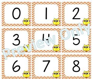Number Cards ~ Owls ~  0-120