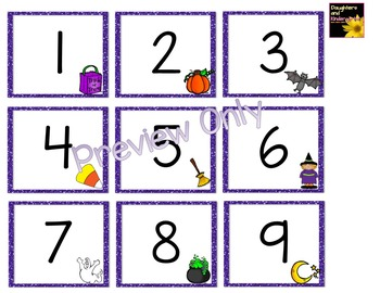 Number Cards ~ Halloween ~  0-120