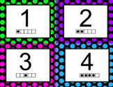 Number Cards: Polka Dot Themed!