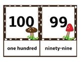 Number Cards Set Zero-100 Mushrooms and Polka Dots