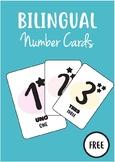 Number Cards Spanish/English