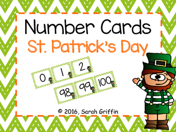 Number Cards ~ St. Patrick's Day~  0-100