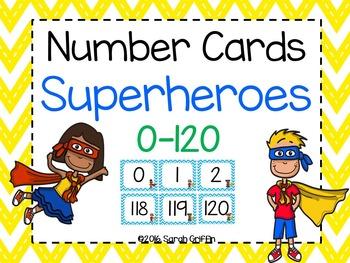 Number Cards ~ Superheroes ~  0-120