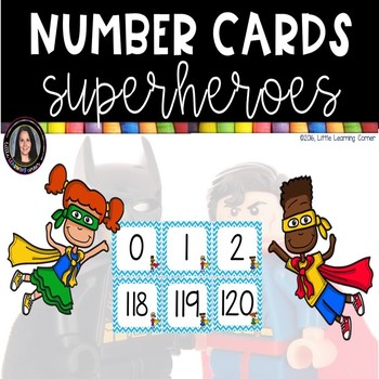 Number Cards  ~  Superheroes  ~  0-120