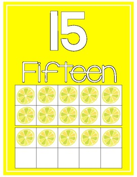 Tropical Number Cards