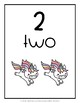 Number Cards {Unicorn}