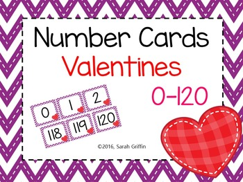 Number Cards ~ Valentines Hearts ~  0-120