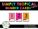 Number Cards 1-20 With Ten Frames- Simply Tropical inspired