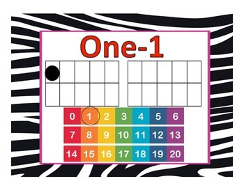 Number Cards- Zebra Print