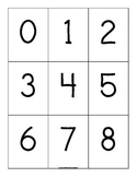 Number Cards Zero through Nine