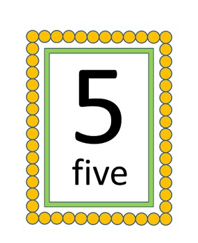 Number Cards and Borders