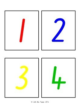 Number Cards and Subatizing Cards - Numbers 1-20