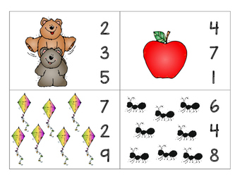 Number Cards - counting objects