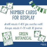 Number and Ten Frame Posters for Classroom Display (Green Botanical)