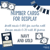 Number and Ten Frame Posters for Classroom Display (Navy and Gold)
