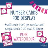Number and Ten Frame Posters for Classroom Display (Pink Watercolour)