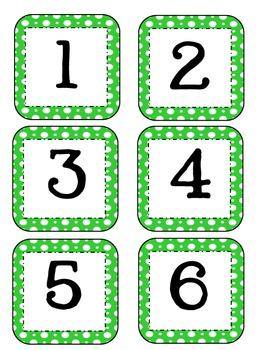 Number Cards for Counting Strip