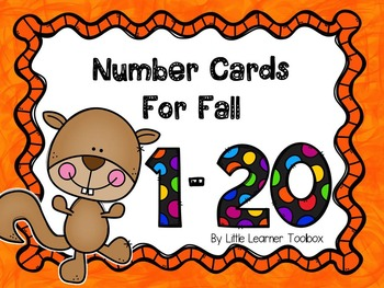 Number Cards for Fall
