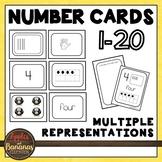 Number Cards for Kindergarten 1-20 (Standard/Word/Tally/Te