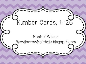 Number Cards for Pocket Chart Counting Grid