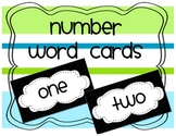Number Words for Word Wall: Black & White