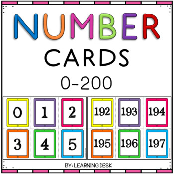 Number Cards (White-Filled iPads)