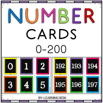 Classroom Number Line Wall Display 1-200 (Black-Filled iPads)