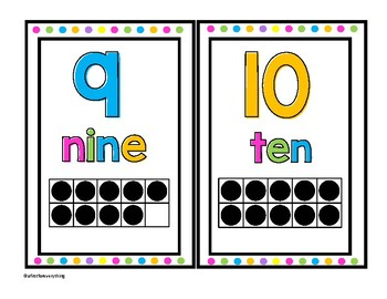Number Cards in Black and White Bright