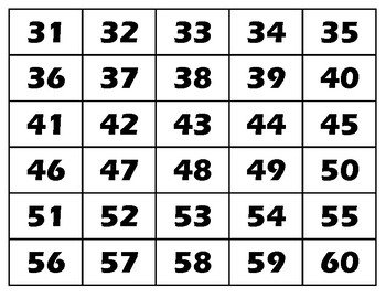 Bewitching image in printable numbers 1-100