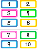 Number Cards to 100 (Bright)