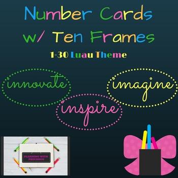 Number Cards w/ Ten Frames 1-30
