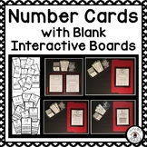 Number Cards with Blank Interactive Boards