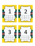 Number Cards with Blank Ten Frame 0-10