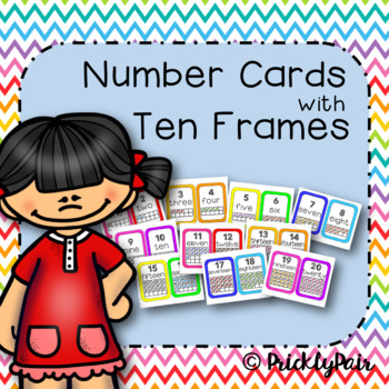 Number Cards with Candy Ten Frames