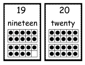 Common Core Number Cards with Ten Frames